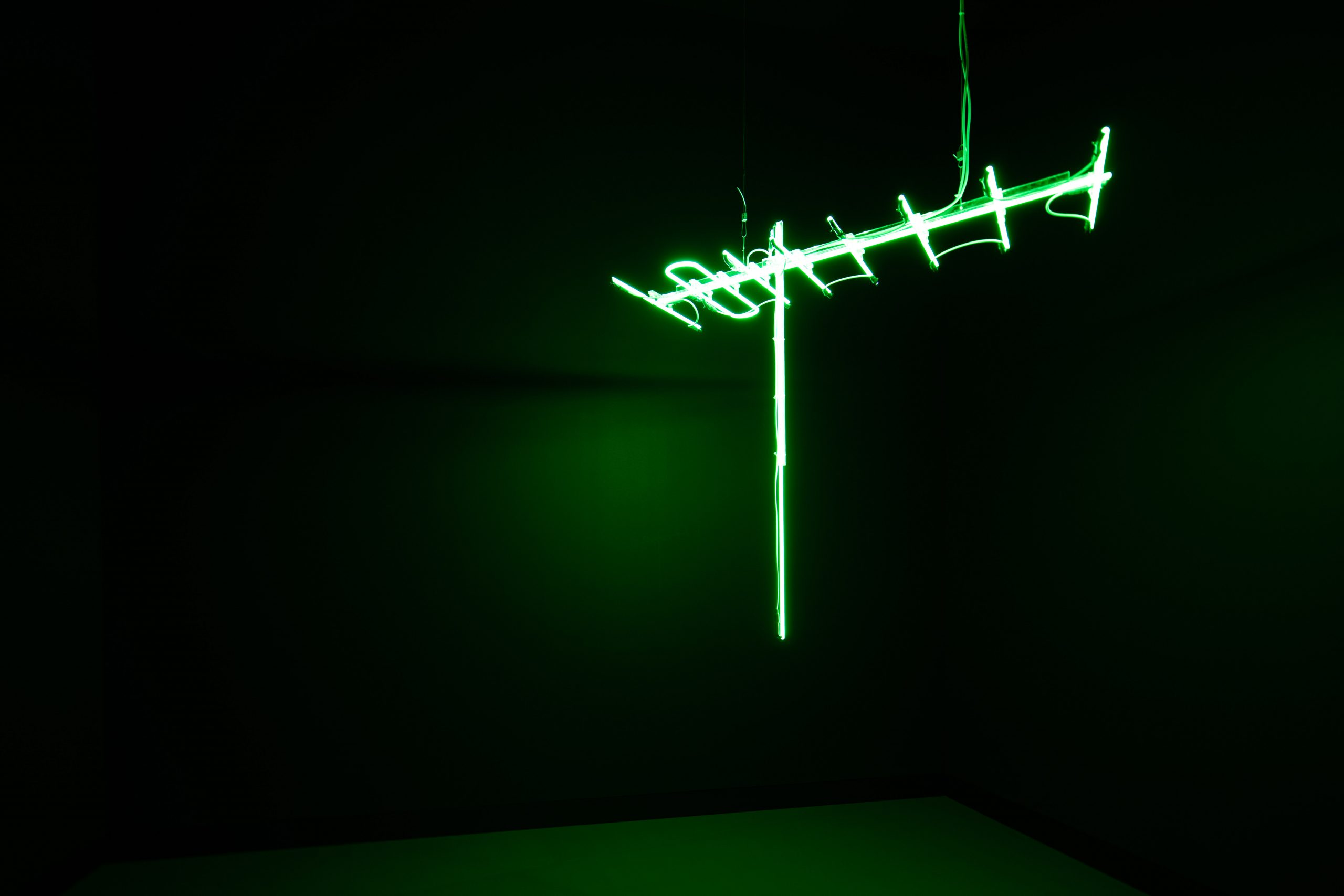 Ahmed Mater, Antenna (Green), 2010. From the series Antenna. 150 x 150 x 50 cm.